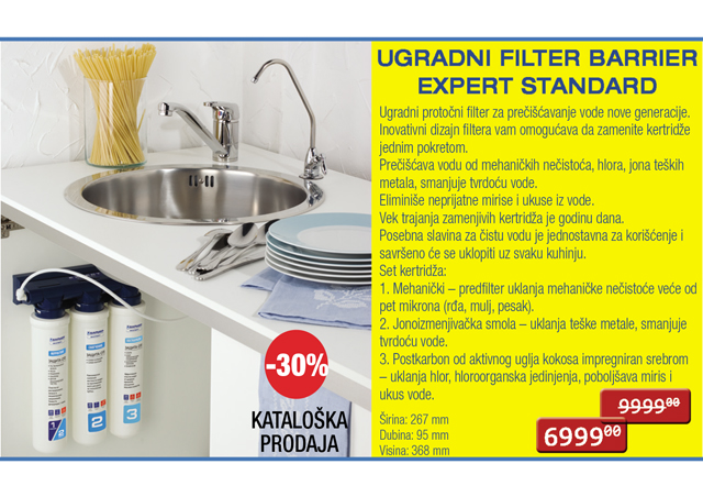 Ugradni filter za vodu EXPERT